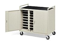 The Bretford D24CFR laptop Storage Cart stores and charges up to 24 laptop computers
