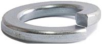 Brighton Best 361080 M8 Split Lock Washers - Steel - 100 Pack - Zinc Blue