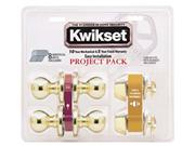 Kwikset 92420-032 Blackened Satin Brass Tylo Knob Entry Lockset & Deadbolt