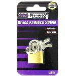 Brass Padlock 20 mm (Pack of 24)