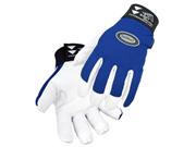 Revco Toolhandz 99g-blue Grain Goatskin Snug-fitting Mechanics Gloves, Large