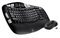 Logitech 920-002555 Mk550 2.4 Ghz Wireless Keyboard, Mouse - Laser - Usb - Contoured - Black