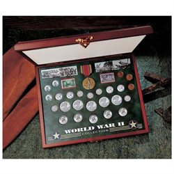 Comprehensive World War II Coin and Stamp Set