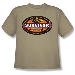 Youth(8-12yrs) SURVIVOR Short Sleeve PANAMA Small T-Shirt Tee