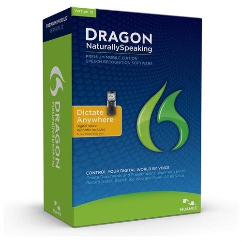 Dragon NaturallySpeaking Premium 12.0, Mobile (w/Digital Recorder), English