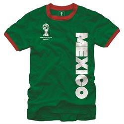 Mexico FIFA 2014 World Cup Soccer Core Ringer Men's T-Shirt