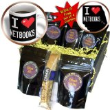 cgb_118919_1 Dooni Designs Geek Designs - Geeky Old School Pixelated Pixels 8-Bit I Heart I Love Netbooks - Coffee Gift Baskets - Coffee Gift Basket
