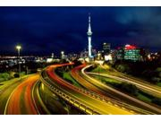 Motorways And Skytower, Auckland Poster Print By David Wall (37 X 25)