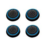 Insten [2 Pair/4 Pcs] Wireless Controllers Silicone Analog Thumb Grip Stick Cover, Game Remote Joystick Cap for PS4 Dualshock 4/PS3 Dualshock 3/PS2 Dualshock/Xbox One/Xbox 360, Black/Blue