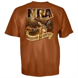 NRA National Rifle Association Serving Our Heritage Hunting T-Shirt-xxxl