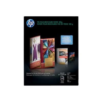 Hp Inc. Q5443a Tri-fold Brochure Paper - Matte - Letter A Size (8.5 In X 11 In) 100 Sheet(s) Photo Paper - For Deskjet 3050 J610  Envy 5055  7645  Officejet 463