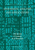 "This volume contains papers which were presented at a meeting entitled ""Stochastic Analysis and Applications"" held at Gregynog Hall, Powys, from the 9th — 14th July 1995"