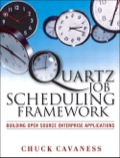 Integrate Powerful Scheduling Capabilities into Any Java Application or Environment  If your Java applications depend on tasks that must be performed at specific times or if your systems have recurring maintenance jobs that could be automated, then you need Quartz: the first full-featured, open source job scheduling framework