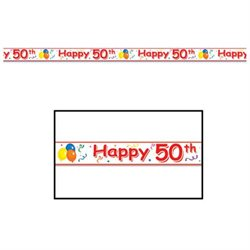 Beistle 66181-50 50th Happy Party Tape