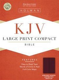 King James Version - Cornerstone - Large Print - Bonded Leather - Burgundy