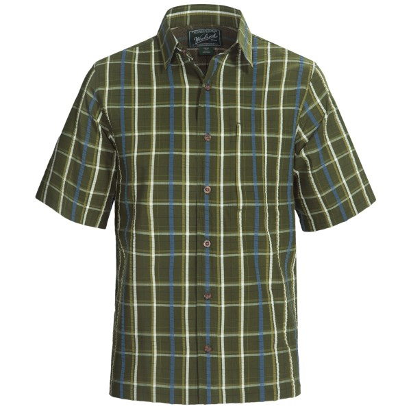 Woolrich Scenic Plaid Shirt - UPF 15 , Organic Cotton, Short Sleeve (For Men)