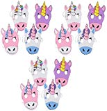 Novelty Treasures Magical Unicorn Masks 12 Pack Halloween and Birthday Party Mask