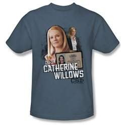 Mens CSI Short Sleeve CATHERINE WILLOWS Large T-Shirt Tee