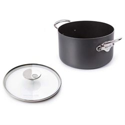 Mauviel Cookware M'Stone2 Aluminum Stewpan with Glass Lid