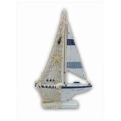 Puzzled 9294 Nautical Decor - Blue Stripes Boat