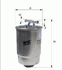 Wix Fuel Filter Mercedes C-CLASS T-Model (S203) C 220 CDI 08/2006- 2149cc 136hp
