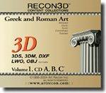 RECON3D Vol.1 Greek and Roman Art, 3D Content Collection (3DS, 3DM, DXF, LWO, OBJ Formats)