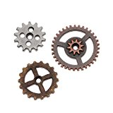 Metal Mini Gears by Tim Holtz Idea-ology, 12 per Pack, Various Sizes, Antique Finishes, TH93012