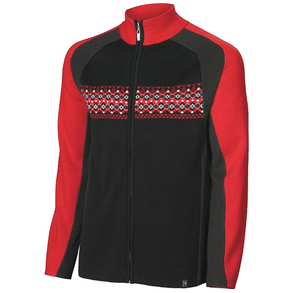 Neve Liam Ribbed Cardigan Sweater - Full Zip (For Men)