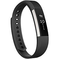 Fitbit Alta Smart Band - Wrist - Accelerometer - Calendar, Silent Alarm, Text Messaging - Sleep Quality, Calories Burned, Steps Taken, Distance Traveled - Bluetooth - Bluetooth 4.0 - 120 Hour - Black - Elastomer Clasp, Stainless Steel - Health & Fitness, Fb406bks