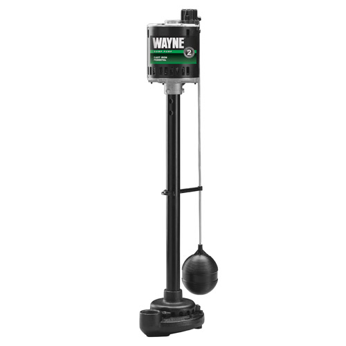 Wayne Spv800 1/2 Hp Cast Iron Pedestal Sump Pump With Vertical Float Switch