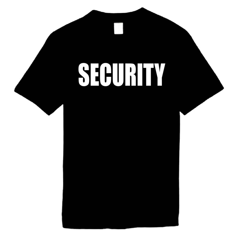 Mens Funny T-Shirts Size M (SECURITY) Uni-Sex, Adult, Men, Women, & Teens Comical Tees; Humorous Sayings Slogan Novelty Shirt