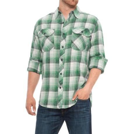 Miners Wash Plaid Flannel Shirt - Long Sleeve (for Men)