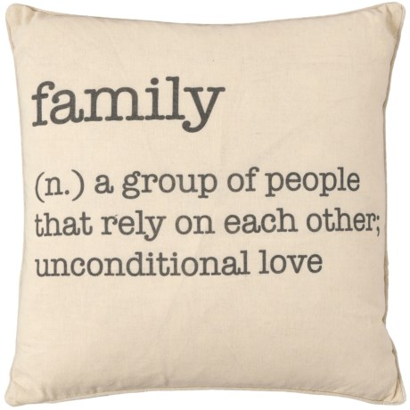 Family Definition Pillow - 20x20?, Feathers