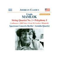 Ursula Mamlok: String Quartet No. 1; Polyphony I (Music CD)