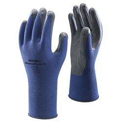 Showa Best Glove Large Blue Gray Atlas Ventulus 380 Palm Dipped Nitrile (1 pr)