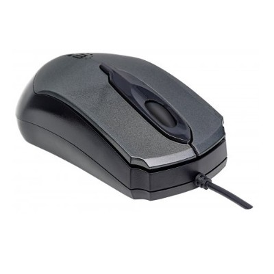 Manhattan 179423 Edge Optical Usb Mouse - Usb  Wired  Three Buttons With Scroll Wheel  1000dpi  Gray