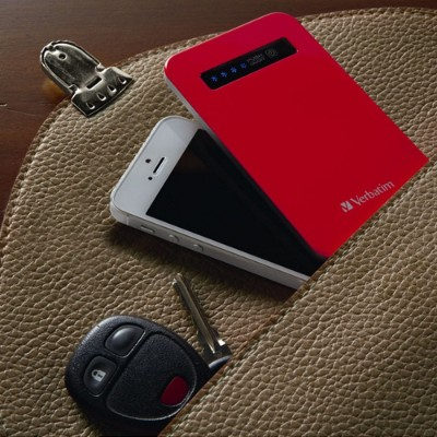 Verbatim 98453 Ultra Slim Power Pack - External Battery Pack Li-pol 1200 Mah - On Cable: Micro-usb - Red