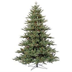 7.5' Vickerman G112477 Blue Noble Fir - Blue, Green Christmas Tree