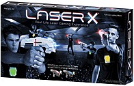 Nsi Laser X 042409880289 Two Player Laser Tag - 2 Vests / 2 Laser X Blasters - Up To 200 Feet - Full Color Lighting Effects