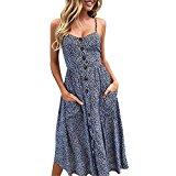 Goddessvan Women's Casual Plain Flowy Simple Lace Swing T-Shirt Loose Dress (S, Navy)