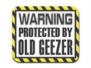 Warning Protected By Old Geezer Mousepad Mouse Pad