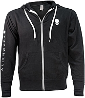 Mobileedge Awshtc1m Alienware Heather French Terry Zip Hoodie - Medium - Black