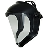 Uvex Bionic Face Shield with Clear Polycarbonate Visor and Anti-Fog/Hard Coat (S8510)
