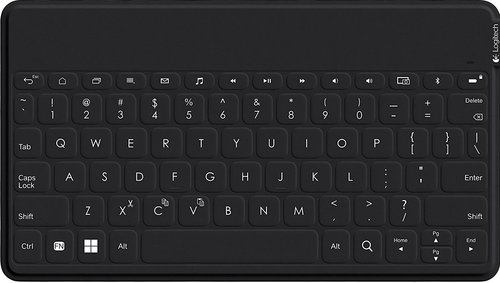 Logitech Ultra-portable, Stand-alone Keyboard - Wireless Connectivity - Bluetooth - Compatible With Tablet, Smartphone - Qwerty Keys Layout - Black