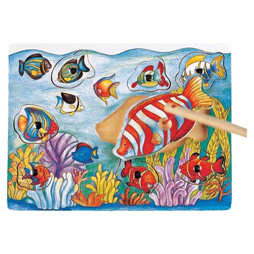 Puzzled Magnetic Fishing - Fish Wooden Toys