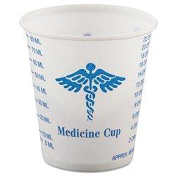 Paper Medical & Dental Graduated Cups, 3oz, White/Blue, 100/Bag, 50 Bags/Carton