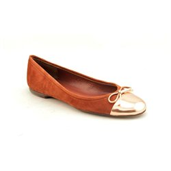 Delman Brook Womens Brown Kid Suede Ballet Flats Shoes