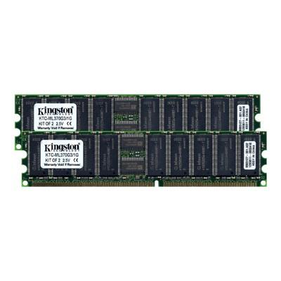 memory - 1 GB : 2 x 512 MB - DIMM 184-pin - DDR