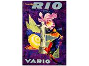Rio Varig-Framed 18x24 Canvas Art