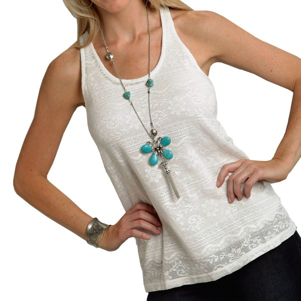Roper Layered Lace Tank Top (For Women)